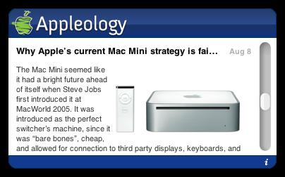 Appleology Widget