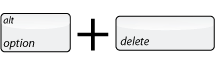 Option and Delete Key Command
